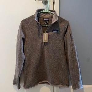 Patagonia NWT Better Sweater 1/4 Zip Taupe
